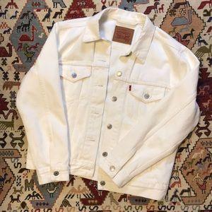 White Levi's Denim Coat
